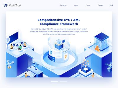 Website design for inVault — Animation finance financial blockchain isometric illustration ui websites animation motion website builder website design website 张小哈