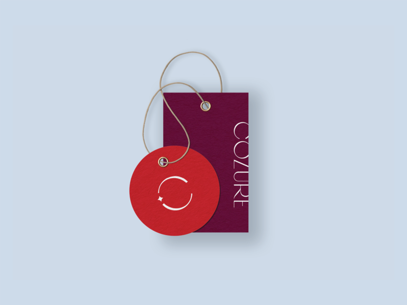 Cozure Brand Design – Hang Tag Design