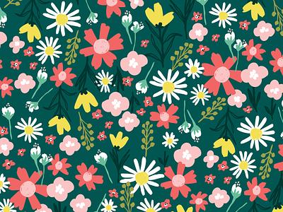 Floral Pattern Design illustration surface pattern design pattern design surface pattern floral illustration floral design floral pattern floral print surface design pattern