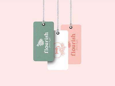 Flourish Flower + Gifts – Brand Design tags florist logo florist floral logo branding brand design design illustration logo logo design