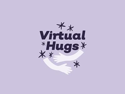 Virtual Hugs branding brand design illustration graphic logo design virtual hugs hugs logo design