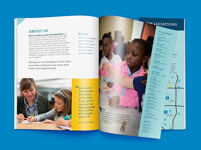 Boys & Girls Clubs of Arlington Brochure non-profit marketing collateral layout design for good social impact print brochure design