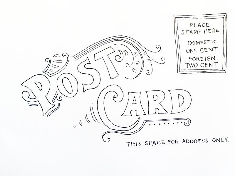 Vintage Postcard Sketch by Jennifer Pace Duran on Dribbble