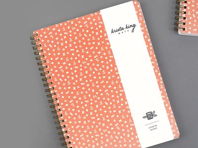 Krista King Math | Patterned notebook