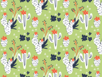 New cactus patterns for stationery sets I'm working on
