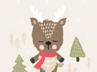 Holiday reindeer character