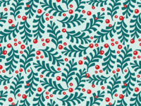 Holiday Holly Pattern
