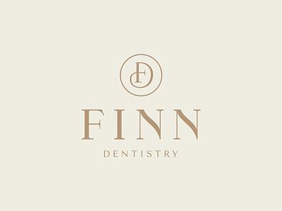 Finn Dentistry brand design dental logo dentist logo design branding brand design logo