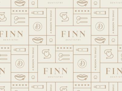 Finn Dentistry brand design | brand pattern