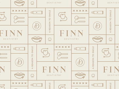 Finn Dentistry brand design | brand pattern dentistry dental branding dentist logo dentist brand pattern logo pattern design logo design brand design pattern branding