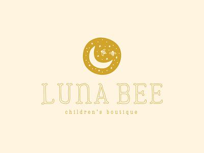 Luna Bee Children's Boutique   Brand Design moon childrens boutique boutique logo boutique design logo logo design brand design branding