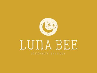Luna Bee Children's Boutique   Brand Design boutique logo childrens boutique bee moon lunar logo logo design brand design design branding