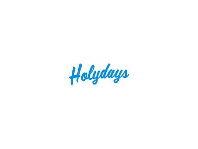 Holydays - Logo handwritten branding logo