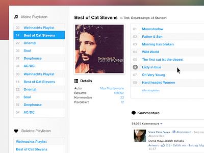 Usercharts - Redesign music usercharts player playlist