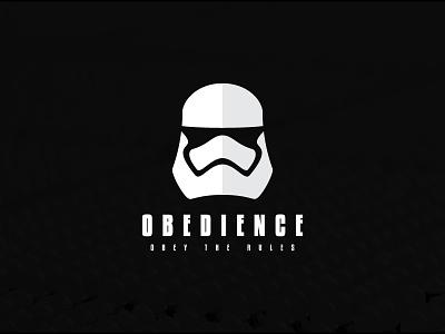 Obedience mark icon logo obey obedience stormtrooper minimalist star wars
