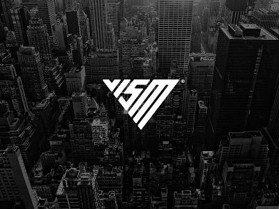 VISM triangle sportswear monogram minimalist logo