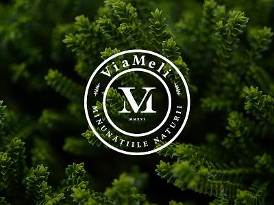 ViaMeli logo stamp cosmetics nature bio
