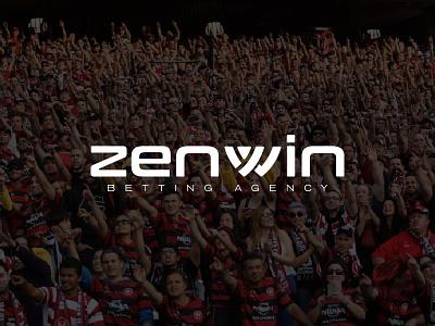 ZENWIN betting agency logo design winning win minimalist logo