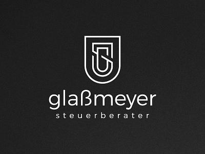 GS shield lawyer law g minimalist minimal logo gs