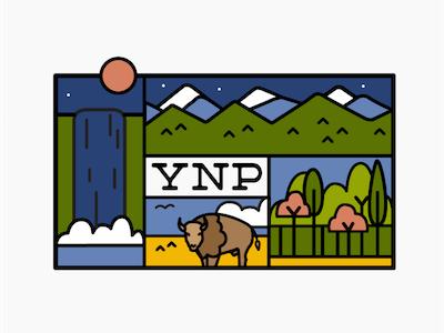 Yellowstone National Park buffalo bison patch badge national park yellowstone
