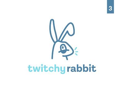 Twitchy Rabbit : Thirty Logos #3 rabbit thirty logos twitchy rabbit