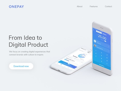 Onepay Lading Page mobile app onepay landing page