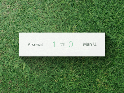 Compact Score View interface ios iphone football soccer score live arsenal manchester compact ios7 shadow