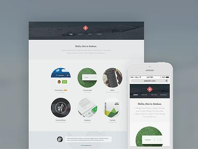 New Portfolio portfolio interface web mobile responsive layout minimal design personal twitter