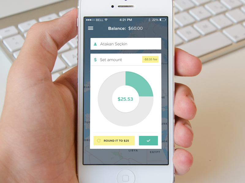 Payment App payment mobile percent amount location map round dial money send receive balance