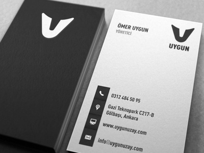 Uygun business cards by atakan seckin dribbble business card design for uygun an aviation aerospace company based in ankara turkey they mainly work on rd of unmanned air vehicles colourmoves