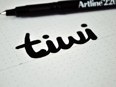 tiwi logo [sketch] tiwi logo logotype typography type dot grid artline skethc drawing lettering sketch process