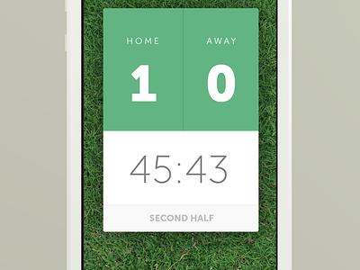 Live Score App live score soccer football home away iphone ios interface