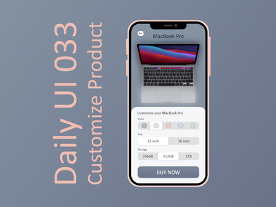 Daily UI #033 - Customize Product shop buy storage size color customize customize product apple macbook mac iphone interface illustration daily ui design ux ui graphic design challenge adobe xd