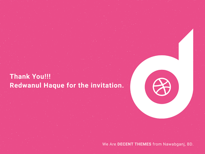 Decent Themes official logo with dribbble logo