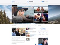 News & Magazine website builder PSD template