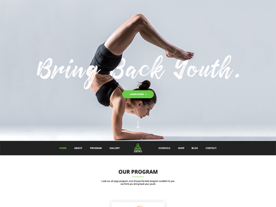 DEHO - Yoga, Gym & Health PSD Template body building yoga gym health
