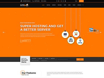 Super Host - PSD Template envato vps server technology hosting