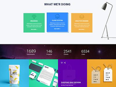 Concept of service box & portfolio envato multipurpose creative wordpress theme