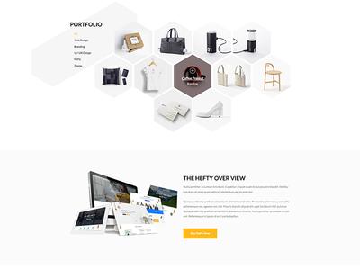 Hexagon Portfolio Section Concept
