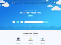 Hosting Banner Concept For Hefty Multipurpose WordPress Themes