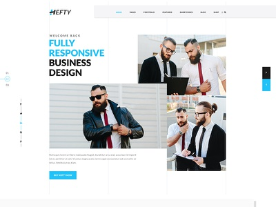 Creative Business Homepage For Hefty Multipurpose Theme landing page home page ui ux theme designer web simple popular new creative clean business
