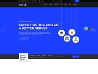 Super Host - Ideal PSD Template For Domain And Hosting website