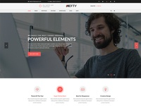 Business Banner Concept For Hefty Multipurpose WordPress Themes