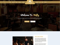 Restaurant Homepage Concept For Hefty Multipurpose Themes