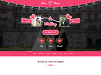 Wedding Banner Concept For Hefty Multipurpose WordPress Themes