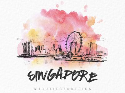 Color Splash Monument 3 (Singapore) typo singapore paint color splash