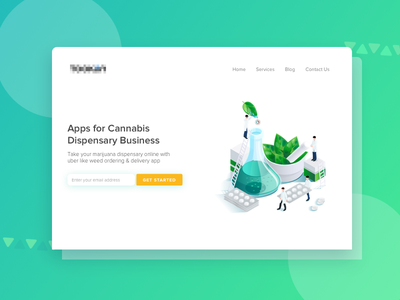 Cannabis Homepage Banner medicine illustration dribbble dispensary business cannabis banner homepage ui