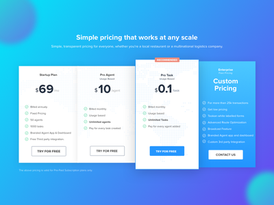 Pricing Screen For Tookan price table pricing plan uiux ui product ui pricing