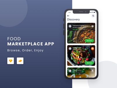 Food Marketplace App android ios ux ui design