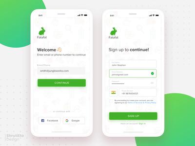 Sign up App Design